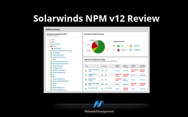 SolarWinds Network Performance Monitor 12.3 Review