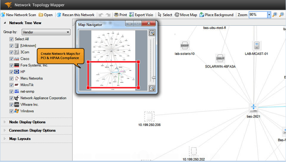 Network Diagram Software: SolarWinds Network Topology Mapper
